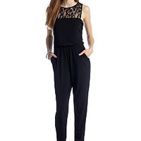 Speechless Lace Illusion Jump Suit