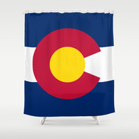 Colorado State Flag - Authentic version Shower Curtain by LonestarDesigns2020 - Flags Designs +
