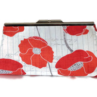 Red Poppy Flower Clutch