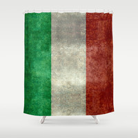 The National Flag of Italy - Vintage Version Shower Curtain by LonestarDesigns2020 - Flags Designs +