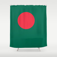 The Flag of Bangladesh - Authentic 3:5 version Shower Curtain by LonestarDesigns2020 - Flags Designs +