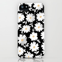 Daisies iPhone & iPod Case by Leah Reena Goren