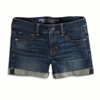 AEO FACTORY CUFFED DENIM MIDI SHORT