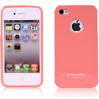 Alice Pastel Premium Jelly [Logo Hole] Case for iPhone 4 / 4S - Peach