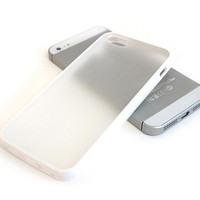 BUMPER Case with Matte Clear Back Cover for iPhone 5 / 5S - White