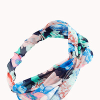 Splashy Floral Knotted Headwrap