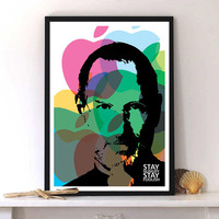 Stay Hungry Stay Foolish, Steve Jobs Quote - Inspirational Print Art, Typography Print Poster, Modern Art, Wall decor, Digital print, A3