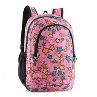 Street-chic Contrast Color Stars Letters Print Backpack