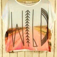 Wild Print Neon T-shirt - Chic+ - Retro, Indie and Unique Fashion