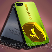 New John Deere Logo Design - iPhone 4/4s/5c/5s/5 Case - Samsung Galaxy S3/S4 Case - Black or White