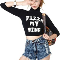 Lazy Oaf Pizza My Mind Top