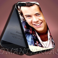 Harry Styles Bandana One Direction - iPhone 4/4s/5c/5s/5 Case - Samsung Galaxy S3/S4 Case - Black or White