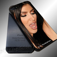 Kim Kardashian Party Photo - iPhone 4/4s/5c/5s/5 Case - Samsung Galaxy S3/S4 Case iPod 4/5 Case - Black or White