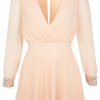 Petites Embellished Cuff Playsuit - View All - New In
