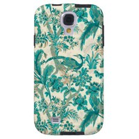 Abstract Floral Pattern Samsung Galaxy S4 Cover