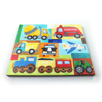 Transportation Art for Boy Room, Vroom No. 20, 11x14 acrylic painting for kids room or nursery