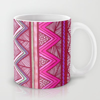Two Feathers Two... Mug by Lisa Argyropoulos