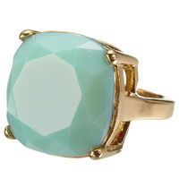Luxury Milan Stone Ring | Green | Accessorize