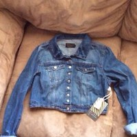 denim cropped jacket New with tags
