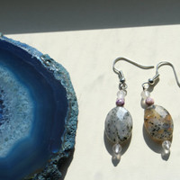 Earthwear: Blue Waters ~ Kiwi Jasper, Rose Quartz, & Lapis ~ Natural Healing Stones Jewelry