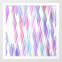 Re-Created Vertices No. 13 Art Print by Robert S. Lee