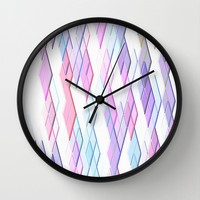 Re-Created Vertices No. 13 Wall Clock by Robert S. Lee
