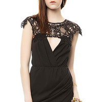 The Lace Keyhole Dress in Black