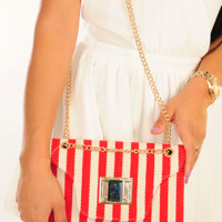 Think I'm Alone Purse: Red/Ivory | Hope's