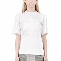 Cellophane Crewneck T-Shirt With Bonded Parental Advisory Logo - Alexander Wang