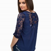 MINE BOW BACK LACE TOP