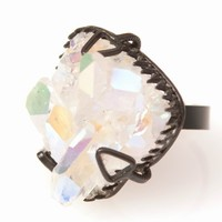RODARTE IRIDIZED CRYSTAL RING - WOMEN - JEWELRY - OPENING CEREMONY
