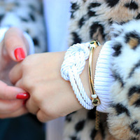 Spring Trends: Arm candy set - Gold nut beads and Silk Bracelets