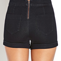 Cuffed High-Waisted Shorts