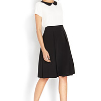 Pleated Precision Midi Skirt