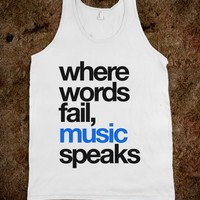 WHERE WORDS FAIL MUSIC SPEAKS TANK TOP BLUE BLACK (IDC402212)