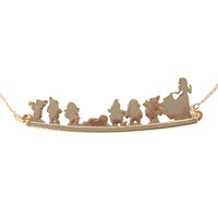 Disney Snow White And The Seven Dwarfs Silhouette Neckalce