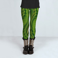 Galaxy Green by Fringeman Abstracts (Leggings)