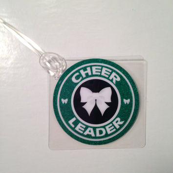 Cheer Bow Bag Tag Cheerleading Bag Tag Cheerleader Gift Cheer Spirit Gift Zebra Cheer Bow Bag Tag Cheer Tag Cheertagz Green Cheer Tag