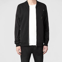 Mens Vetic Bomber Jacket (Black/Black) | ALLSAINTS.com