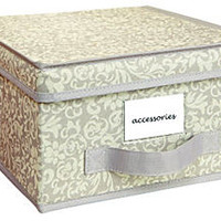 S/2 Medium Storage Boxes, Damask