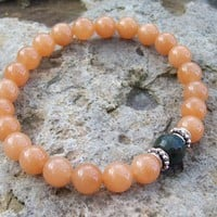 Red Aventurine and Fancy Jasper Meditation Bracelet | Angelof2onArtFire - Jewelry on ArtFire