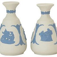 Wedgwood Jasperware Vases, Pair