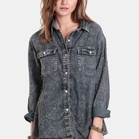 Just For Show Denim Button-Up