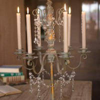 metal candelabra with bedded detail