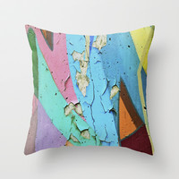 decay of art  Throw Pillow by Sari Klein