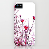 modern pink floral design  iPhone & iPod Case by Sari Klein