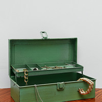 Industrial Jewellery Box in Green - Urban Outfitters