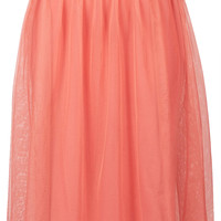 Blush Midi Tulle Skirt