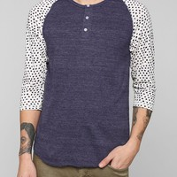 ALTERNATIVE Polka Dot Henley Tee - Urban Outfitters