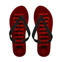 Fire Engine Red Vented Flip Flops